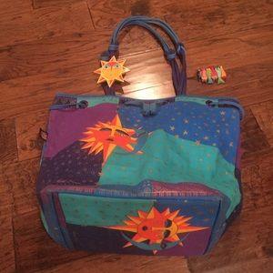 NWOT HUGE Laurel Burch Beach Bag